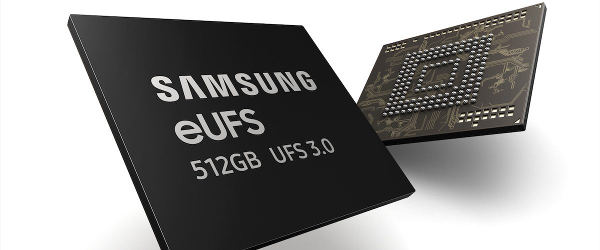 Samsung has the new UFS 3.0 flash memory for smartphones ready: twice as fast and with capacities up to 1TB